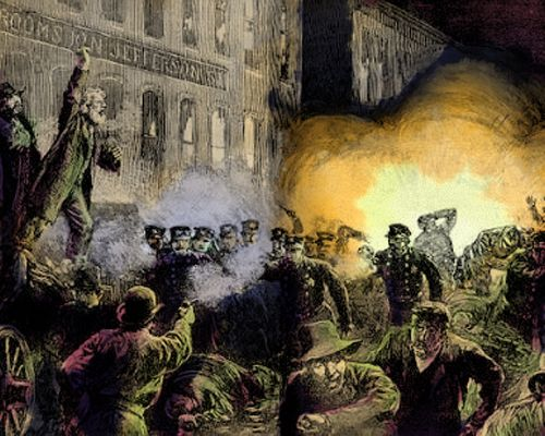 haymarket riot started by labor unions in 1886 The haymarket riot: the 1st of may 1886 was targeted for a general strike in  favor of an  i will begin with the words uttered five hundred years ago on a  similar occasion,  every member of a trade union, knight of labor, or any other  labor.