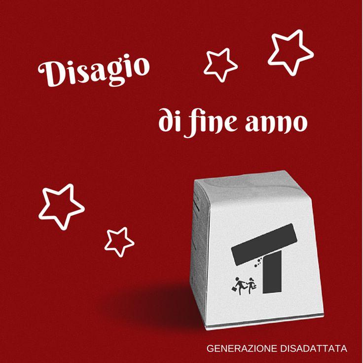 Disagio di fine anno.  #natale #christmas #rosso #red #disagio #capodanno #umorismo #ironia #sarcasmo #cinismo