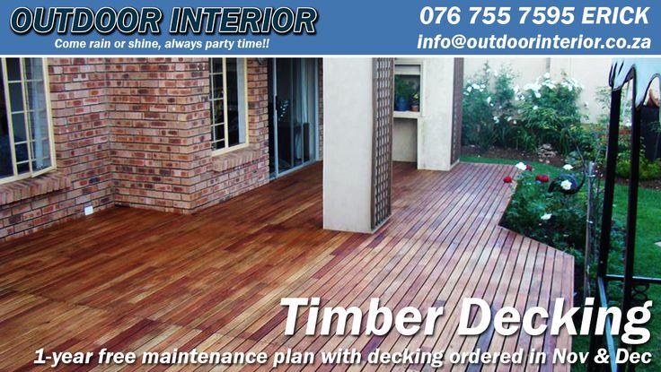 Timber Decking - http://outdoorinterior.co.za/2015/11/14/timber-decking/
