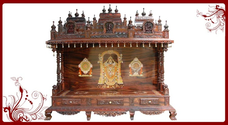 Puja Mandir Home Temple Usa With Eye Catcthy Designing And
