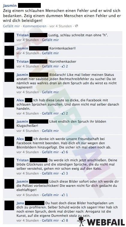 Weise Sprüche aber kein Gehirn - Facebook Fail des Tages 05.04.2013 | Webfail - Fail Bilder und Fail Videos