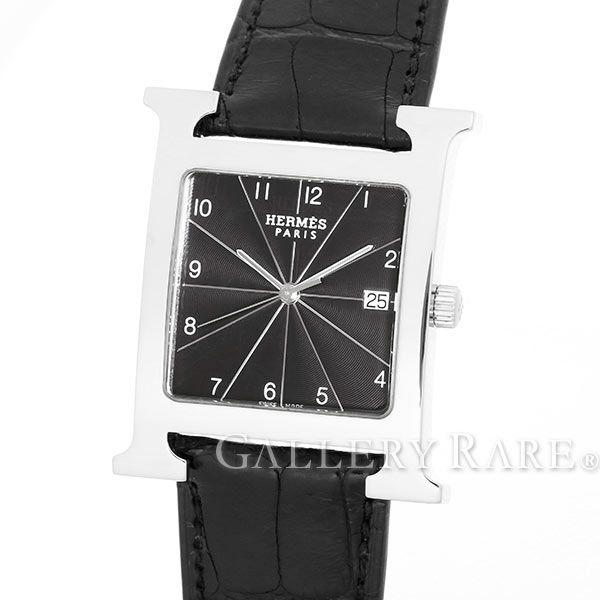 エルメス Hウォッチ クロコストラップ O刻印 HH1.810 HERMES 腕時計