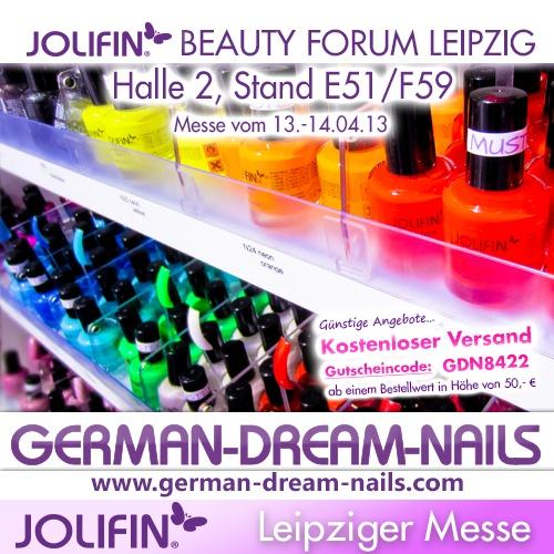 Leipzig, wir kommen! Jetzt zugreifen - Gutscheincode: 8422 http://www.gdn.de  #jolifin #messe #leipzig #gutschein #naildesign #kosmetik