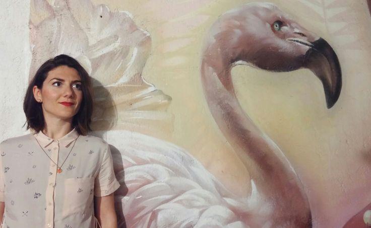 Letizia Cavallaro in visita al #Farm_Cultural_Park di Favara // Flamingo is a mood!