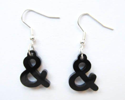And Sign Earrings & Lasercut Miniblings  van Miniblings op DaWanda.com