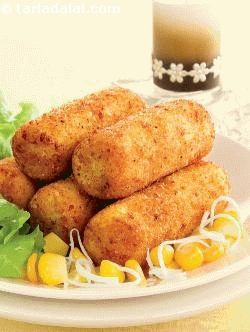 Paneer and Corn Croquettes recipe | by Tarla Dalal | Tarladalal.com | #32938