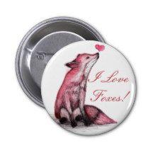 I Love Foxes 6 Cm Round Badge