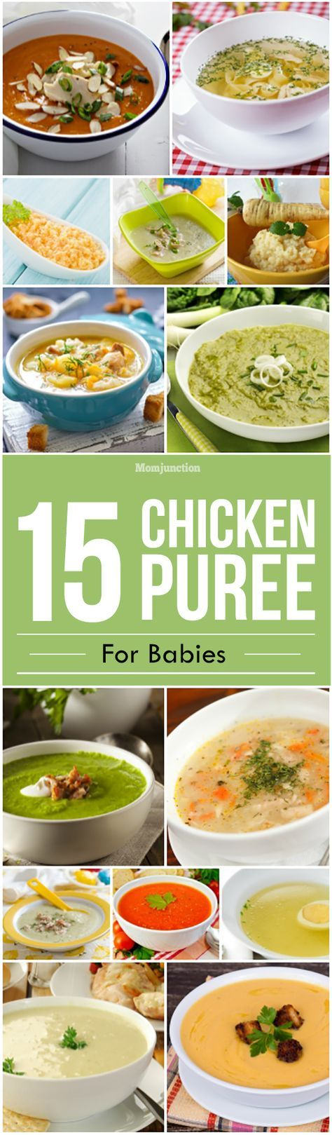 Looking to introduce your baby to the amazing world of solid foods? Planning for ways to include chicken in his diet? Check out 15 chicken puree for babies.