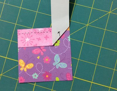 Fold the binding strip diagonally