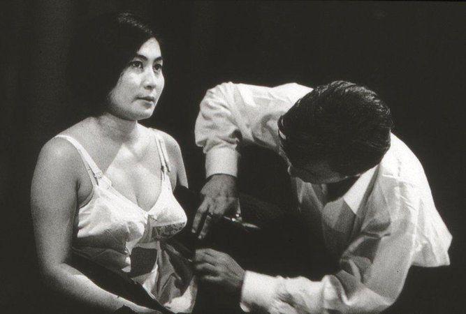 Yoko Ono created Cut Piece in 1964