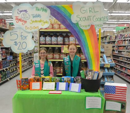 girl scout cookie booth decorations | ... at the end of the rainbow to really be filled with Girl Scout Cookies