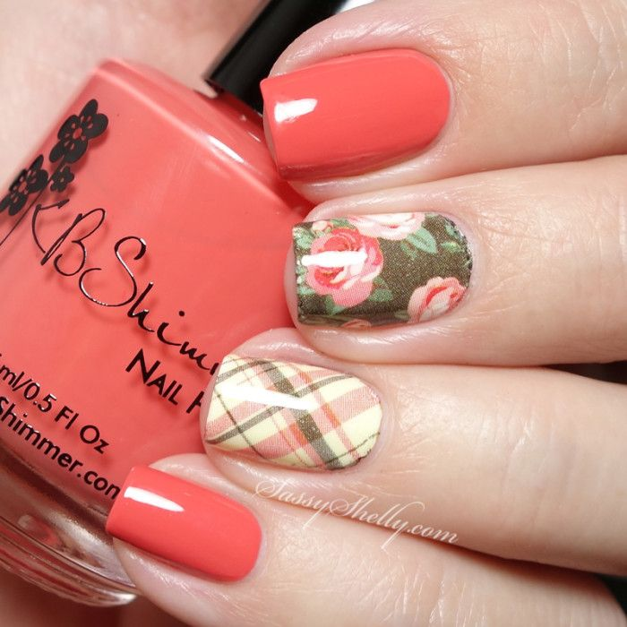 Digit-al Dozen ~ Nail Heroes - KBShimmer Water Decals - Best 25+ Plaid Nails Ideas On Pinterest Plaid Nail Art, Plaid