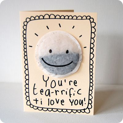 you're tea-rrific and i love you card :: valentine's card by teeandtoast.com #valentines