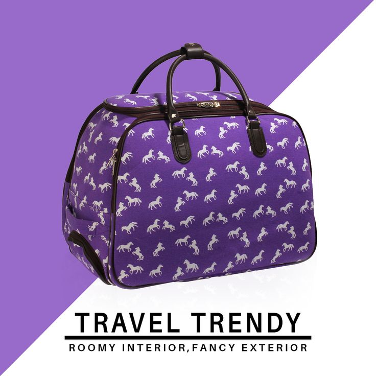 Because bold printed bags are trendy and feminine 💜