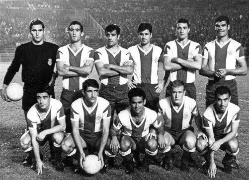 Alineaciones. Fútbol. Fundación Diario Madrid-R.C.D. ESPANYOL 1965