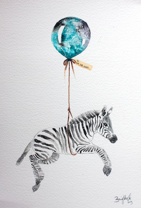 Far, Far Away III #nursery #illustration #art #zebra