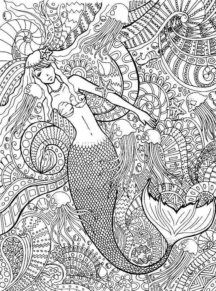200 besten Coloring Therapy: Sirens Of The Sea Bilder auf Pinterest ...