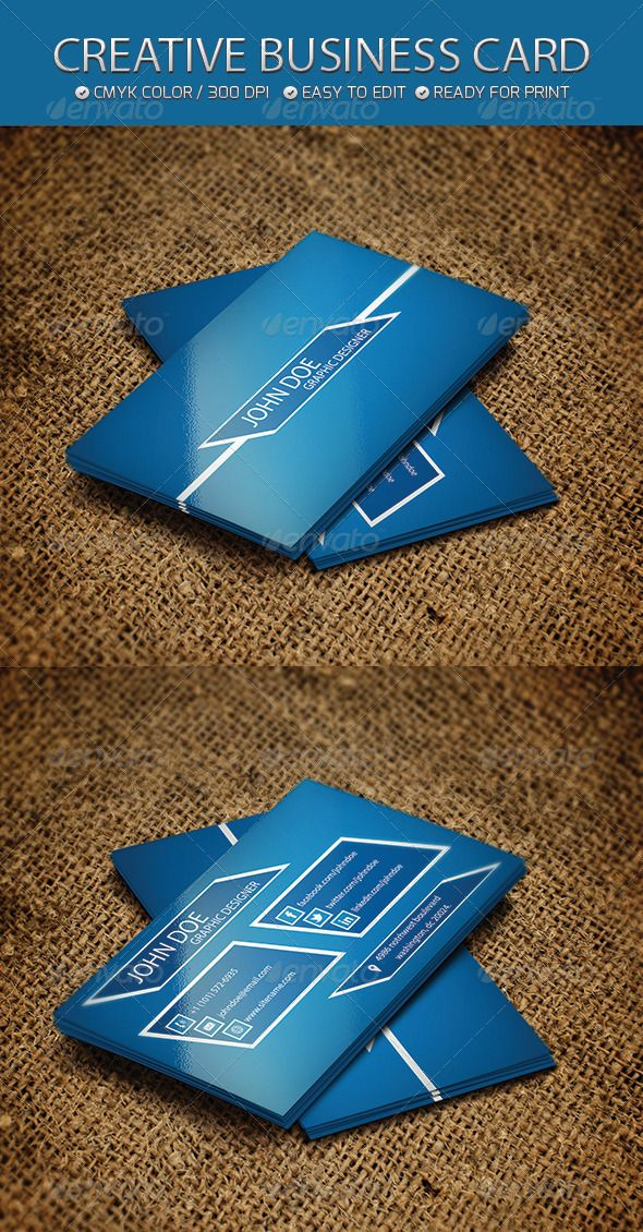 Creative Business card #GraphicRiver Business Card Features: Ready to ...