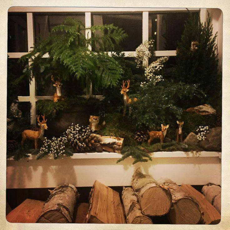 #bambi #miniaturegarden #christmas #magicforrest #winter #porch