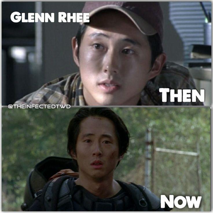 Glenn Rhee Season 1 VS 4 | Walking Dead | Pinterest ...  Glenn Rhee Seas...