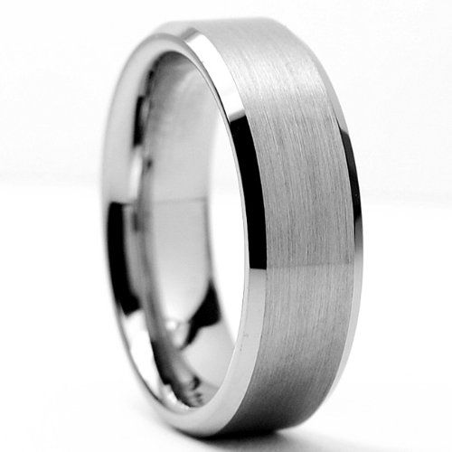 6MM High Polish / Matte Finish Tungsten Ring, Bands Sizes 5 to 13