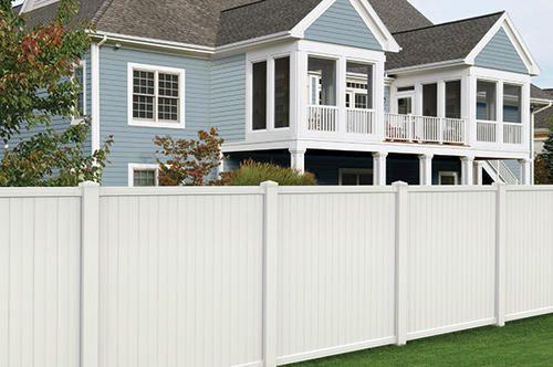 6 X 6 White Vinyl Belmont Privacy Fence Panel At Menards