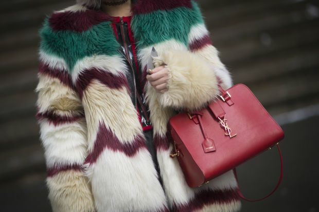 A show-goer at fall 2015 New York Fashion Week. Photo: Timur Emek/Getty Images