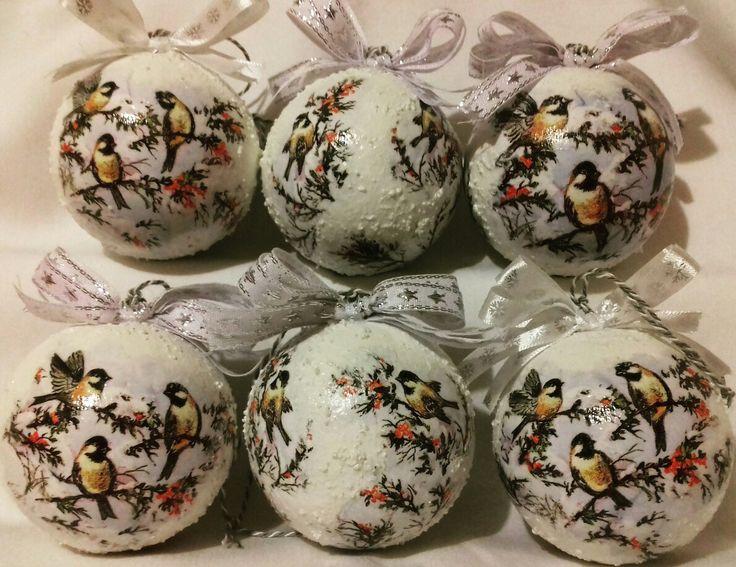 Christmas ball with  birds