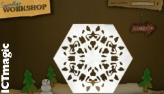 Make a virtual paper snowflake with this great wintry site. Draw your pattern with the virtual pencil and cut out with the cyber scissors. Great to about out as Christmas cards.