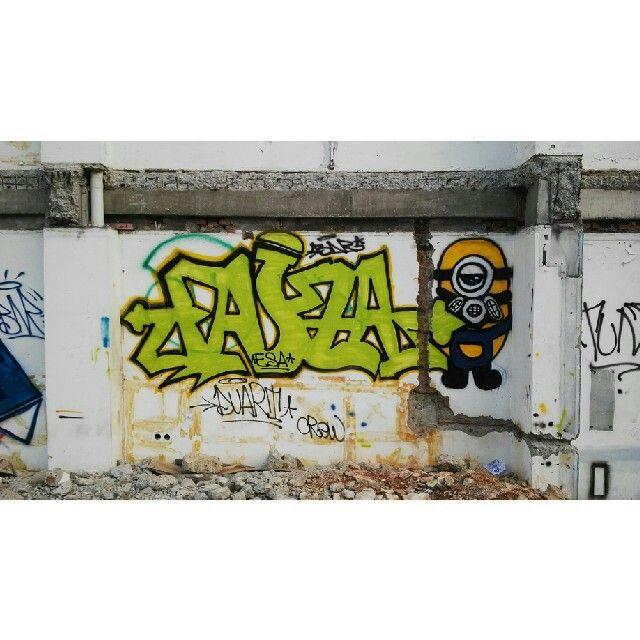 #streetart #vandalism #art #galeri #jalanan #character #minion #bnr #esa