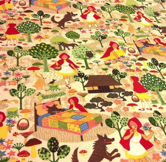 Kid Blanket; Baby Bedding; Toddler; Little Red Riding Hood; Minky; Kawaii Style; Japanese; Asian Inspired Fairytale Custom Minky Blanket on Etsy, $22.00
