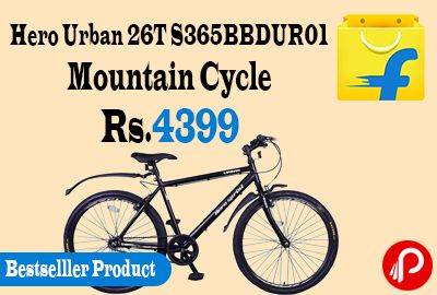 Flipkart #Bestselller Product is offering 20% off on Hero Urban 26T S365BBDUR01 Mountain Cycle Just at Rs.4399 Only. 26 inch Tire Size, 18 inch Frame Size, V Brake, Single Speed Gear, 3 Month Domestic Warranty.  http://www.paisebachaoindia.com/hero-urban-26t-s365bbdur01-mountain-cycle-just-at-rs-4399-only-flipkart/