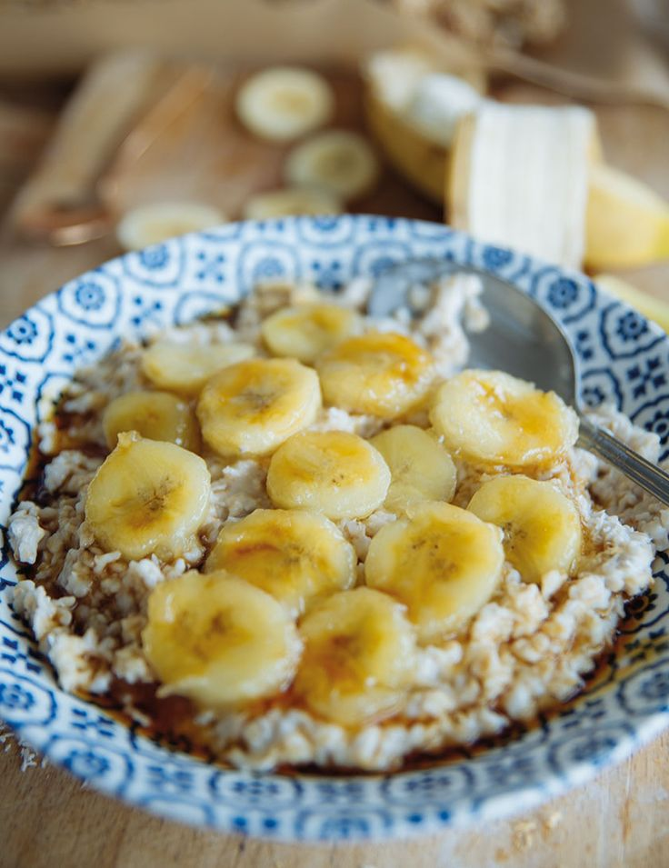 Caramelized banana oatmeal - In Love With Health