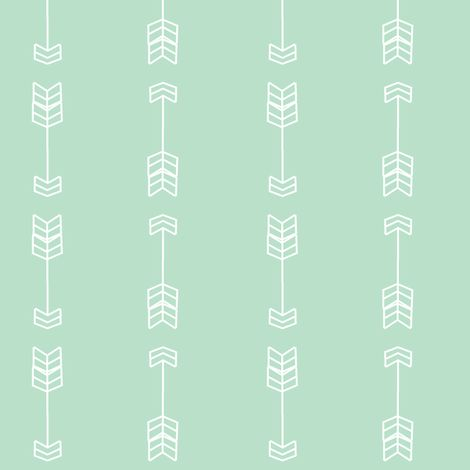 Bold arrows Mint fabric by daniellereneefalk on Spoonflower - custom fabric: