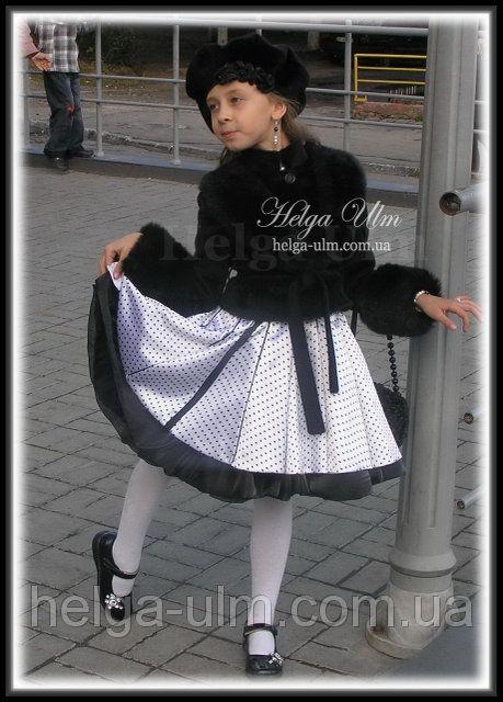 """""""Парижанка"""" - дитячий комплект (ансабль) для дівчинки 7- 8 років (сукня + болеро). Прокат та на замовлення: продажа, цена в Львове. аренда одежды от """"Творча Майстерня Helga Ulm"""" - 88076602"""
