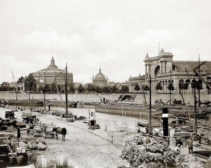 Landwehrkanal und Lehrter Bahnhof. Berlin, um 1900. o.p.