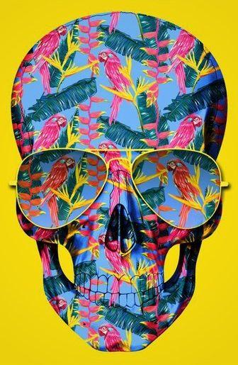 ☆ Skull Pink Parrots.。Art By :→: RUSS ☆
