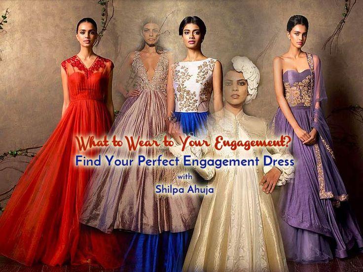 15 Top Designer Indian Engagement Dresses for Brides for Spring 2016