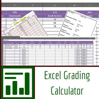 Excel Grading Calculator: This is a grading calculator I've been using for years in all my classes. Plug in grades and weights for each grade and the sheet spits out the final grade and even rounds it for you. By setting a failing grade, you can even keep track of students who are having trouble.