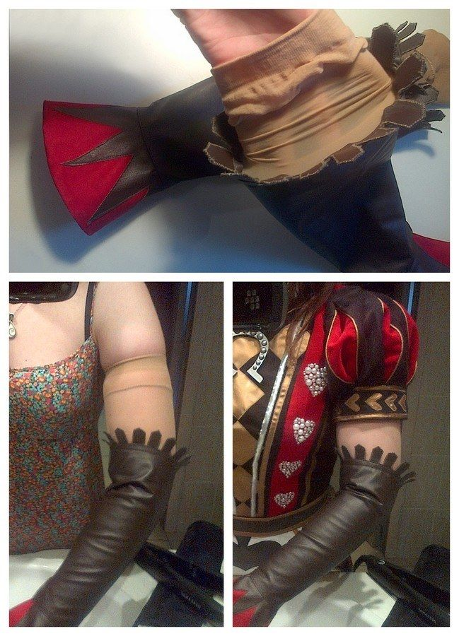 Creative tip for keeping gloves/gauntlets/thigh-highs/boots up for cosplay!