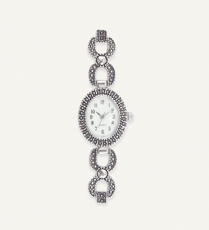 Oval Link Marcasite Watch  R 299.00
