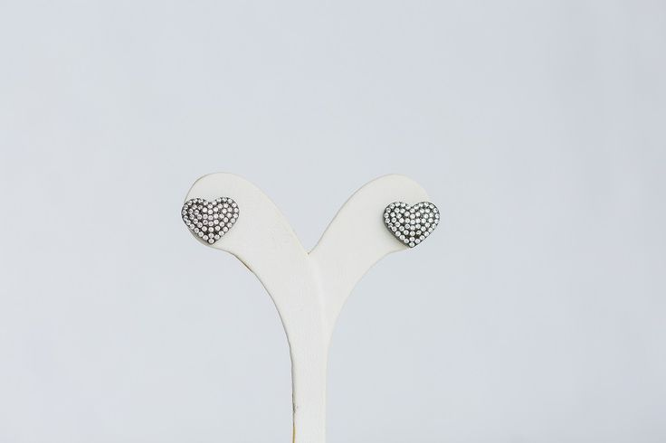Heart earrings with zircon- Price:59.00€