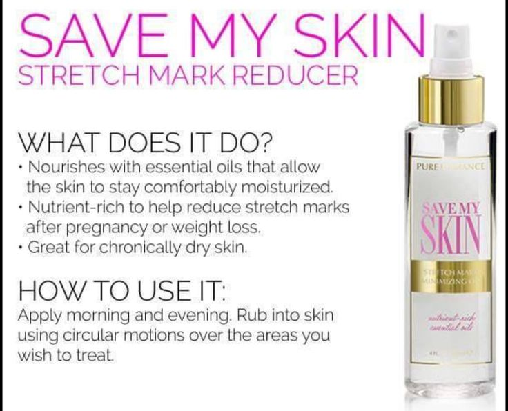Save My Skin nourishes with essential oils that allow the skin to stay comfortably moisturized. Nutrient-rich and packed with essential oils to help reduce stretch marks.