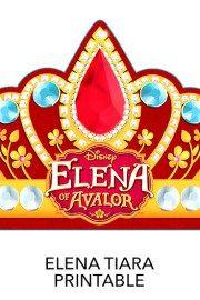 Tiara - Free Printables freaturing Disney Princess Elena of Avalor