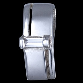 STERLING SILVER PENDANT, ZIRCONIA, RECTANGLE