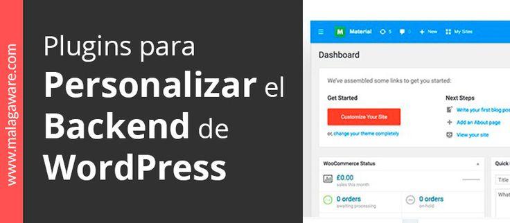 Plugins para personalizar el backend de WordPress. Descubre los #plugins con lo cualespersonalizar el #backend de #WordPress. Podrás cambiar completamente el diseño del panel de control o inclusoremoverdel menú los elementos que no utilicespara dejarlo más limpio.