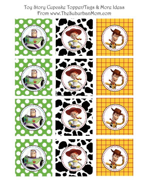 Toy Story Cupcake Toppers - free party printables