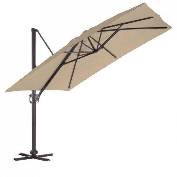 Parasol déporté pas cher, réctangulaire, inclinable - Badaboum