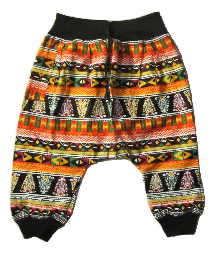 Kids Aztec Pant - Orange