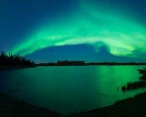 Aurora Green HD Wallpaper Wide